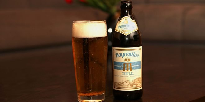 Bayreuther Hell Flasche Glas